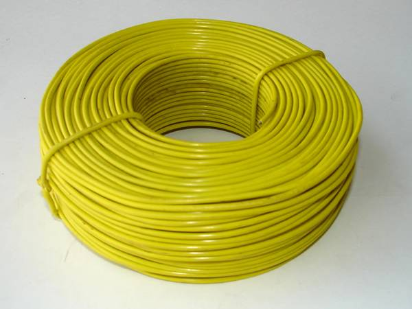 Yellow PVC coating baling annealed wire